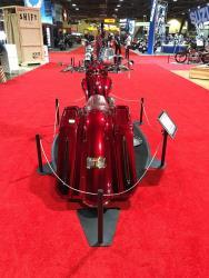 Doug Ide's Road King custom rear view at the Long Beach, California IMS