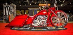 Doug Ide's Road King custom side view at the Long Beach, California IMS