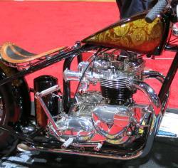David Bird's Triumph engine view at the Long Beach, California IMS