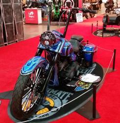 Harley-Davidson Fatboy New York IMS K&N Award winner front view