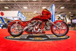 Matt Anderson's 1982 Harley-Davidson® FXRS custom at the Minneapolis IMS side view