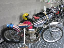 Jawa speedway race bikes at the Buddy Stubbs Motorcycle Museum in Cave Creek, Arizona