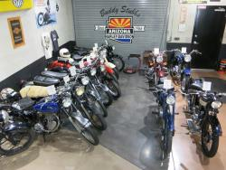 Interior view of the Buddy Stubbs Motorcycle Museum in Cave Creek, Arizona