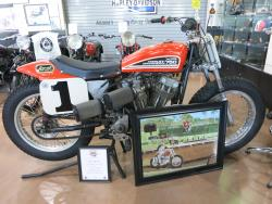 Vintage Harley flat track racer at the Buddy Stubbs Motorcycle Museum in Cave Creek, Arizona