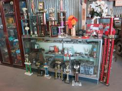 Car show trophies at the Dwarf Car Museum in Maricopa, Arizona