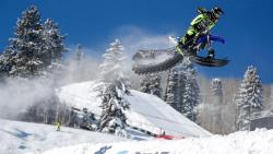 Brock Hoyer jumping in the winter X Games
