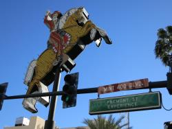 Street sign at the Mint 400 contingency in Las Vegas, Nevada
