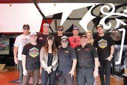 The K&N sponsored racers meet fans at the K&N semi truck
