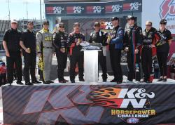 the 8 pro stock drivers in the K&N Horsepower Challenge