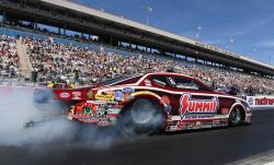 Grag Anderson burnout in his pro stock car at the K&N HPC