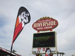 The K&N banner at the Riverside Casino for the UTVWC in Laughlin, Nevada