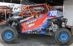 Andrew Madrid's K&N-equipped RZR at tech inspection at UTVWC