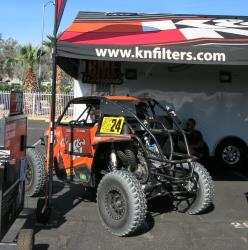 Bradley Morris' UTV on display at the K&N tent at the UTVWC in Laughlin, Nevada