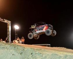 Mark Queen jumps his K&N-equipped RZR at the UTVWC jump competition