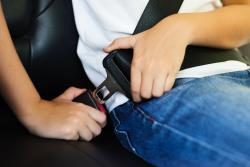 Child buckling seat belt