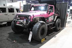 Pink Jeep Wrangler JK at 2016 SEMA show