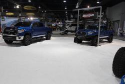 Toyota Tacoma and Tundra with K&N intakes at 2016 SEMA show