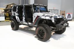 Camouflage wrapped Jeep JK