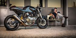 Custom Cafe Racer Motorcycle with Ducati motor built by Smokin Motorcycles