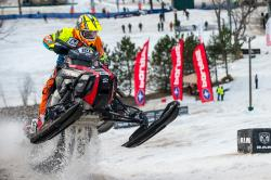 Andrew chases the competition in an ISOC national snocross series event.