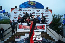Kyle Benjamin in Victory Lane at Dover International Speedway