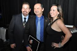 Photo of SEMA's past Person of the Year honorees' Rich Barsamian and Kathryn Reinhardt, w/ M