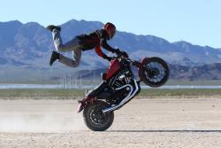 One Wheel Revolution's Stuntster in a desert wheelie