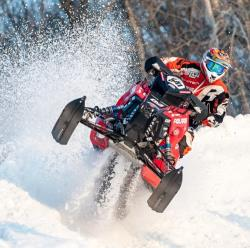 Ryan Springer didn't start racing snowmobiles until after he graduated from high school