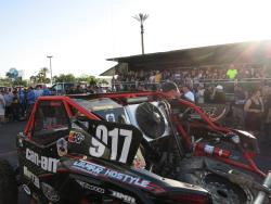 The crowd at the Pit Crew Challenge at the UTV World Championship in Laughlin, Nevada