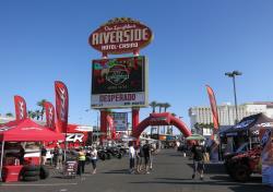 Riverside sign at the UTV World Championship in Laughlin, Nevada
