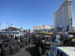 UTVs at tech at the UTV World Championship in Laughlin, Nevada