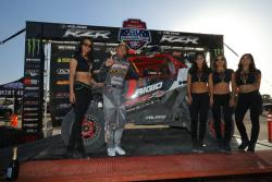 RJ Anderson on the podium in the UTV World Championship in Laughlin, Nevada
