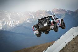 Carl Renezeder jumping in the Lucas Oil Off Road Racing Series
