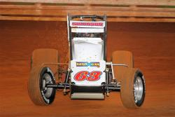Kody Swanson celebrates win in the USAC Silver Crown Champ Car Series for DePalma Motorsports