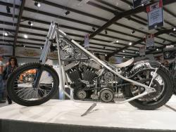 """Raked Chopper"" by Brad Gregory at the Motorcycles as Art show in Sturgis, South Dakota"