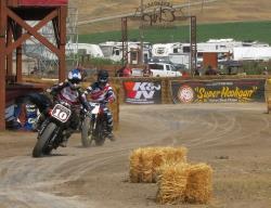 RSD Super Hooligan racing series action at the Buffalo Chip in Sturgis, South Dakota