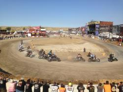The race track at the Buffalo Chip in Sturgis, South Dakota