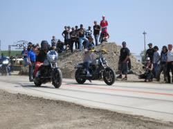 Street Drag action at the Buffalo Chip in Sturgis, South Dakota