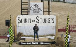 Patrick Simmons of the Doobie Brothers sings the National Anthem at the Spirit of Sturgis Races