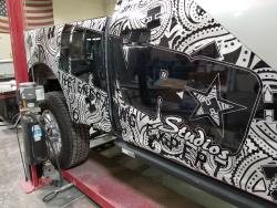 The Hanro Aluminati show truck is based on a 2017 Ford F-250 Super Duty