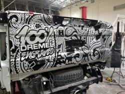 Hank Robinson will show off his metal engraving skills on his latest 2017 SEMA Show truck