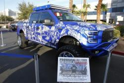 The Hanro Freedom Blues Ford F-150 on display at the 2016 SEMA Show