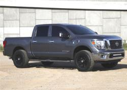 2017 Nissan Titan pickup with K&N cold air intake system