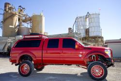 Monica's 2015 F-350 is definitely the perfect attention grabbing rolling billboard
