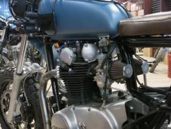"Dave Hargreaves ""Athena"" custom Yamaha 650 engine and K&N air filters"