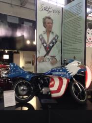 The Evel Knievel Stratocycle display at the San Diego, California Automotive Museum