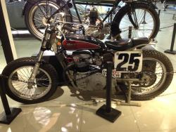 1971 BSA A70 750cc flat track race bike at the San Diego, California Automotive Museum