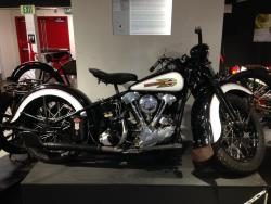 1938 Harley-Davidson Knucklehead at the San Diego, California Automotive Museum