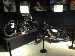 Rare motorcycles at the San Diego, California Automotive Museum