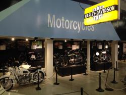 The motorcycle display at the San Diego, California Automotive Museum